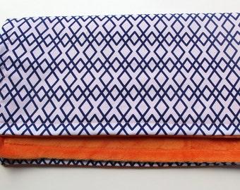 Geometric Baby Blanket, Choose Your Own Colors Minky Blanket