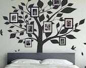 Family Tree Bird Wall Decals Photo Frames Art Wall Stickers Home decor