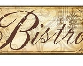 Bistro Wall Sign Decor