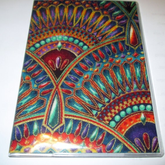 Passport Cover Egyptian Luxor Fans Theme Fabric Amp Vinyl