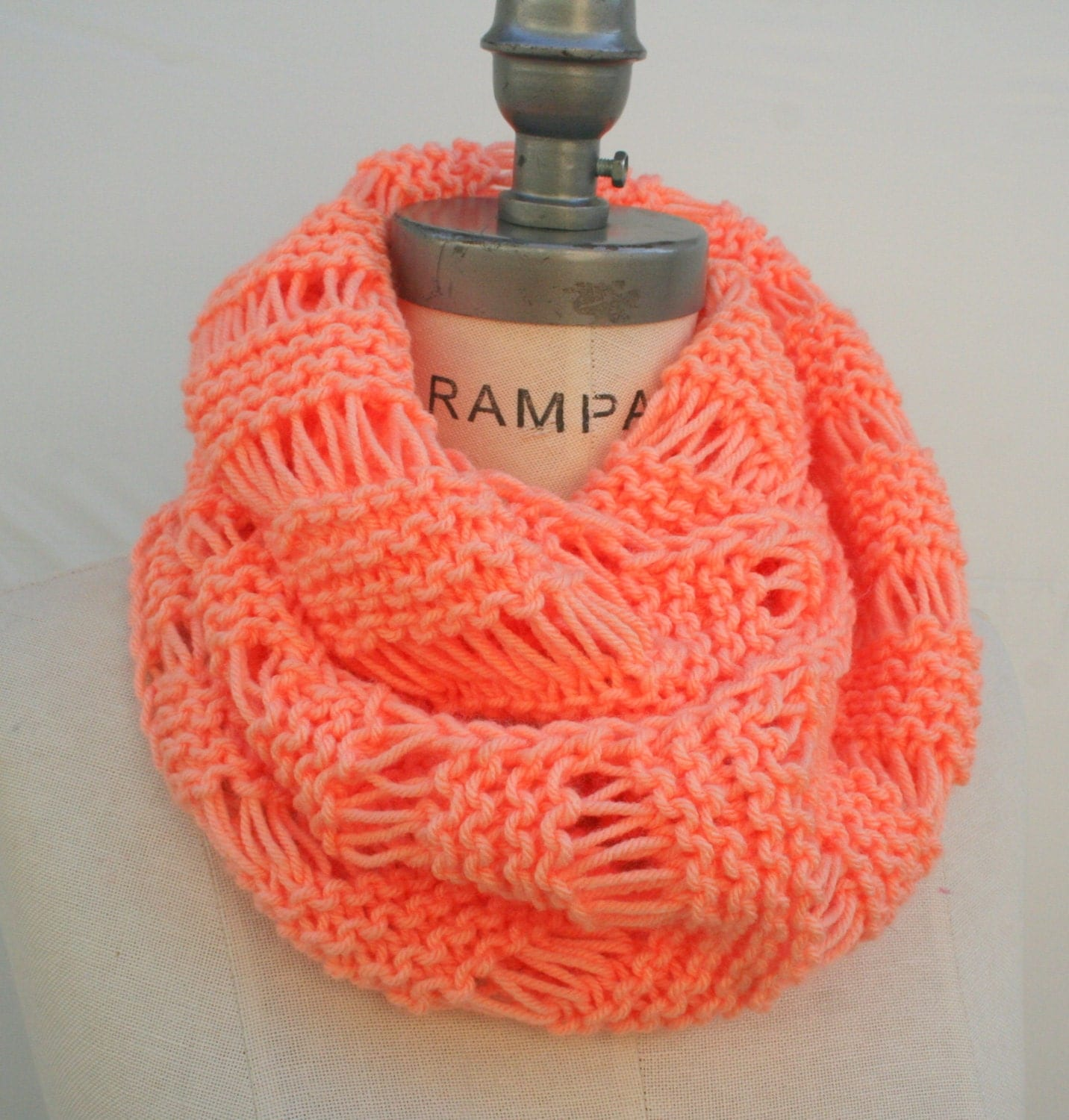 Knitting Items To Sell : Best selling items hand knit peach scarves lovely handmade