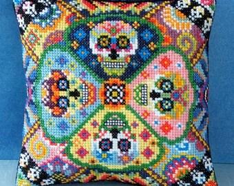 Day of the Dead Mini Cushion Cross Stitch Kit