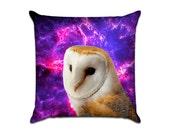Outer Space Owl - Original Graphic Sofa Throw Pillow