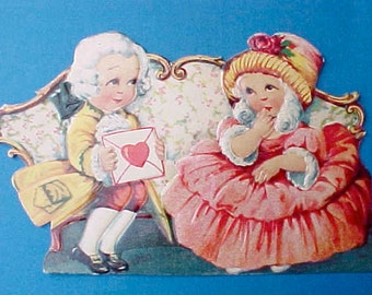 Adorable 1930's Valentine with Little Washingtonian Couple