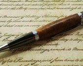 Wood Pen - Classica Style with Gunmetal Finish and Chrome Accents