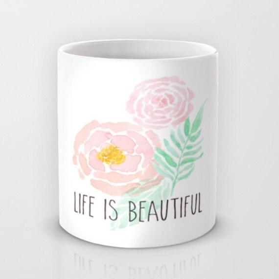 Tasse en céramique, tasse à café - tasse à café, chopes Unique décor de cuisine, Design Floral, jolis Mugs, cadeaux pour elle, décoration intérieure, cadeaux gourmands