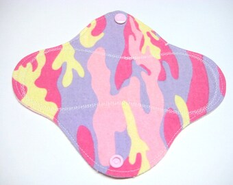 7 1/2 inch Reusable Cloth Pantyliner / Mama Cloth - Cotton Flannel Top - Customize Your Liner