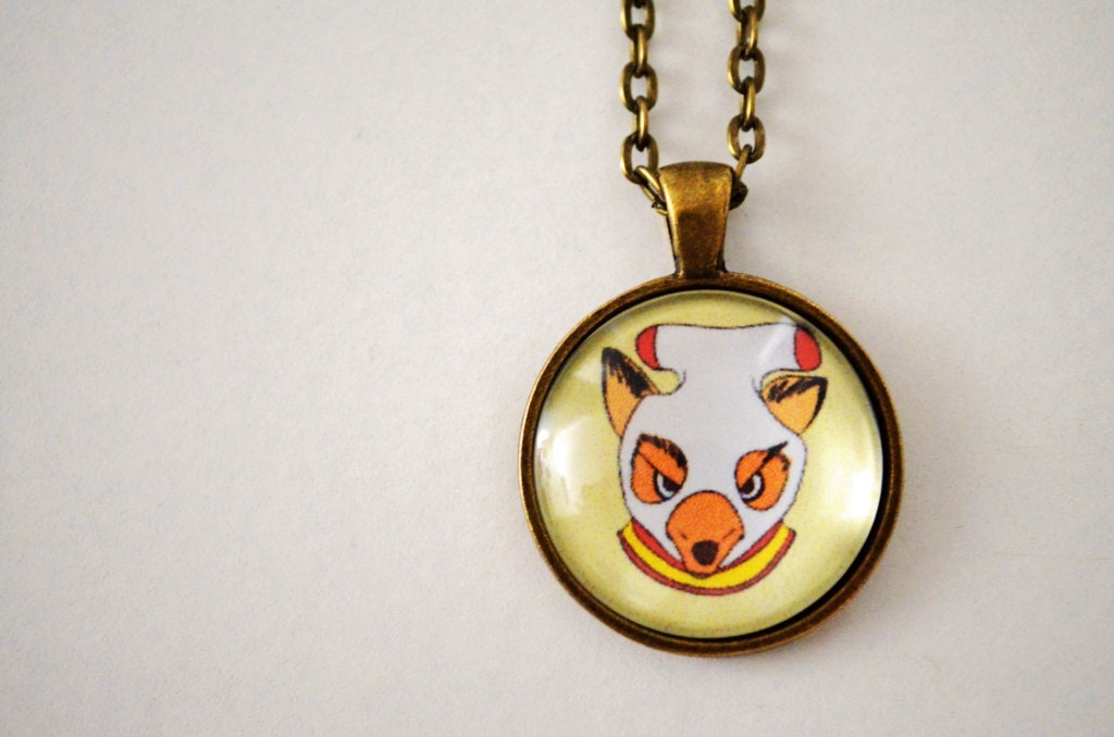 fantastic mr fox ash pendant necklace by cozyreverie on etsy