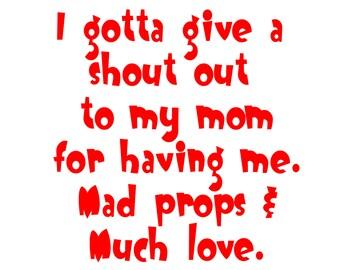 I Love Mom Baby Shirt Funny Infant Tee Newborn T Shirt Hilarious Maternity Gift Boys Girls Green White Pink Yellow  Short Sleeve 0 6 12 18
