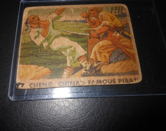 1933 Sea Raiders Cheng The Chinese Pirate trading card - rare vintage baseball