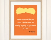 The Lorax Art Print, Dr. Seuss Print, Lorax Movie Poster, Baby Art, Fanart, Dr. Seuss