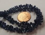 Navy Blue Madagascar Sapphire Drops