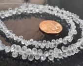 Clear White Madagascar Sapphire Drops