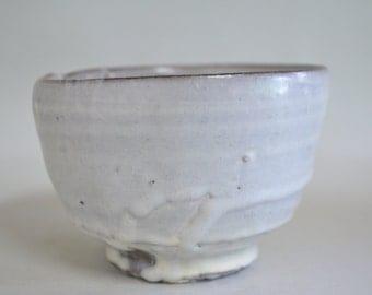 White slip bowl 4504, white slip, wood fired