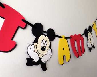READY TO SHIP Mickey Mouse High Chair Banner