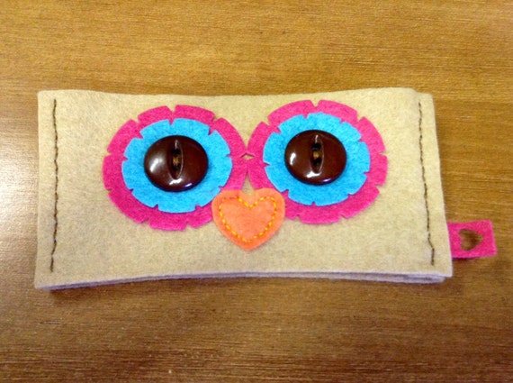Re-usable Felt Owl Coffee Cozy
