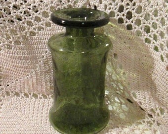 Vintage Dansk Green Glass Bottle Vase, Designed by Jens Quistgaard, France
