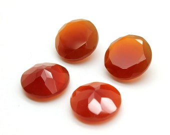 GCF-1293 - Red Onyx Faceted Gemstone - 16mm Round - Calibrated Gemstones - AA Quality - 1 Pc