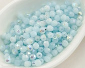 Baby Blue Faceted Beads 4mm (50) Czech Fire Polished Glass last