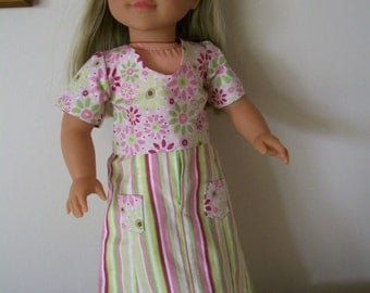 "Long skirt and coordinating top for 18"" Doll"