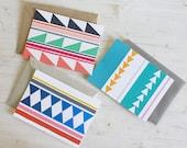 Little Geometries - Set of 3 Blank Cards