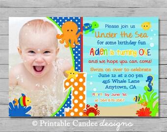 Under the Sea Birthday Invitation - DIY Custom Printable