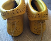 Yellow Moccasin Boot