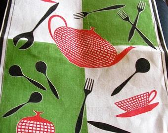 Mid Century Modern Tea Towel