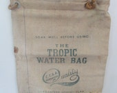 Vintage Scotch Flax Water Bay The Tropic Water Bag