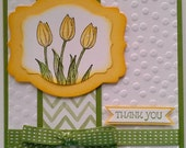 Stamped and Embossed Thank You Card
