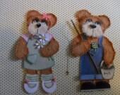 Tear Bear Boy & Girl For Scrapbook