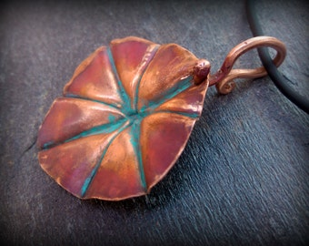 Foldformed copper pendant - Reversible pendant - Handmade by Recreate4U