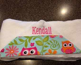 Personalized Hooded Towel, hooded towel for baby, monogrammed hooded towel for toddler