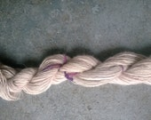 Handspun Yarn: Single Ply Alpaca in Taupe