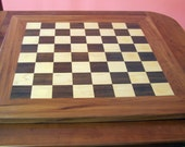 Wooden Chess Set - Handcrafted - Walnut & Maple Chess Set - Game - Cherry, Maple, and Walnut Chess Board
