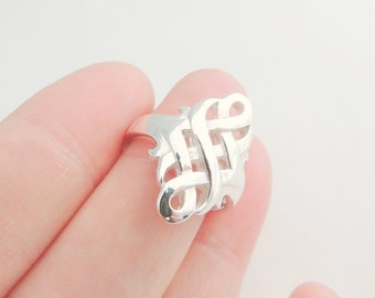 Statement Sterling Silver Celtic Ring, Silver Jewelry, Rings, Silver Rings, Celtic Jewelry, Celtic Rings, Irish Jewelry, Irish Rings,Gifts.