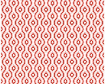 Lazy Day by Lori Whitlock  - Riley Blake Designs - 1 Yard Cut - Lazy Diamond Red - Cotton Fabric - Red Fabric - Diamond Fabric