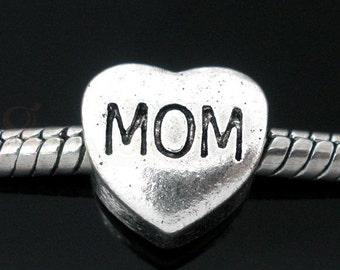 "Heart ""Mom"" Charm Bead"
