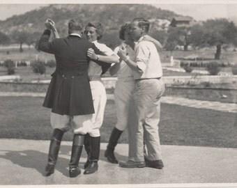 Dismounted Dressage - Vintage 1950s Dancing Equestrians Photograph