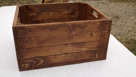 Items Similar To Storage Crate From Reclaimed Wood English Chestnut Toy Storage Apple Crate
