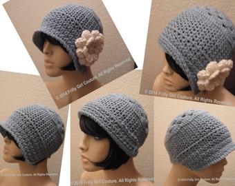 Crochet Cloche Bonnet Pattern Pdf, Instant Download, Gatsby Hat Pattern.