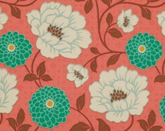 Joel Dewberry Fabric - 1 Fat Quarter Dahlia in Coral / Bungalow
