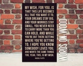 """My Wish for You Wooden Sign - 12"""" x 18"""""""
