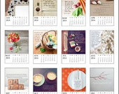 "2014 Photo Calendar, Home Scenes, Inspirational Quotes, Christian Quotes, Typography, 5""x7"" Fine Art Prints"