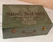 Eagle Scout Memory Box, Personalized Keepsake Box  MHB