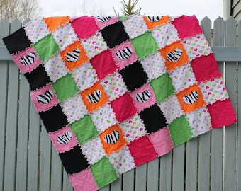 Girly Jungle Rag Quilt