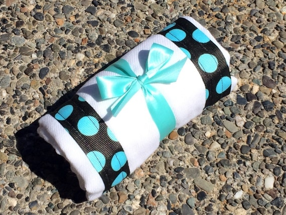 Ribbon Brown With Light Blue Dots 12