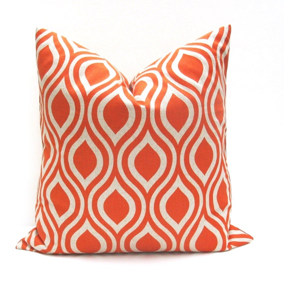 Throw pillow covers 26x26 Euro Pillow Sham Orange by EastAndNest