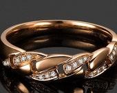 Diamond Band -  0.33 Carat Diamond Band In 14K Rose Gold