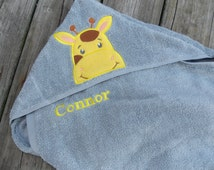 Infant Hooded Towel, Personalized Hooded Towel, Baby Shower Gift, Bath Towel, Personalized Bath Towel, Personalized Gift for Baby